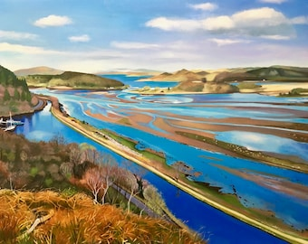 Giclee Print Crinan Canal Bellanoch Scotland. Wall Art