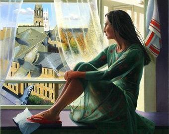 Giclee Print of Female figure  Glasgow wall art