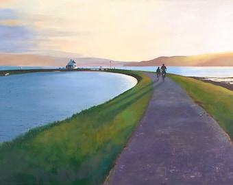 Giclee Print of the  Caladonian Canal Scotland wall art