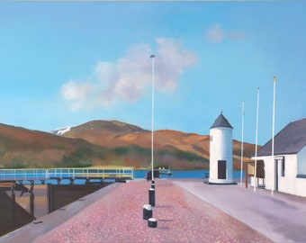 Giclee Print  of Caledonian Canal  at Corpach  wall art