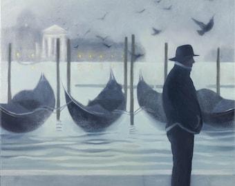 Giclee Print Venice Fog Italy wall art