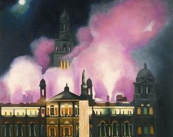 giclee PrintFireworks Pink Smoke  Wall Art
