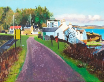 Giclee print Crinan Canal in the  Morning Sun wall art