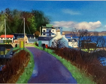 Giclee Print Crinan Canal Winter Morning