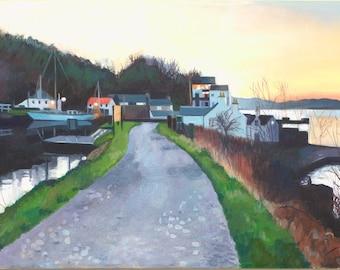 Giclee Print Crinan Canal Dusk wall art