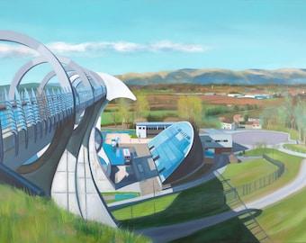 Giclee Prints the Falkirk Wheel Scotland wall art