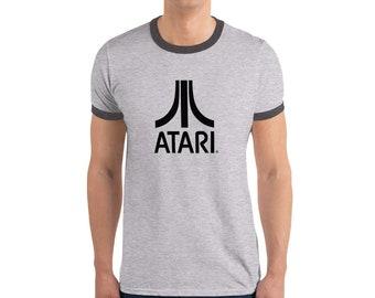 a28a6449d Atari T-Shirt Vintage Geek Retro Gamer T Shirt Old School Video Game  Console Top Custom Printed Arcade T Computer Nerd TShirt