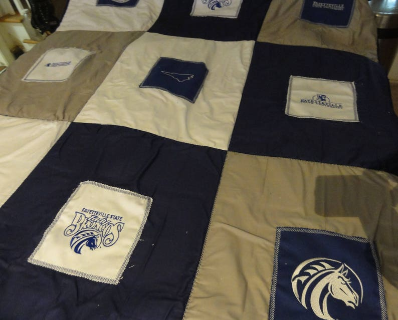 Fayetteville State University Embroidered Quilt Approx 50x60