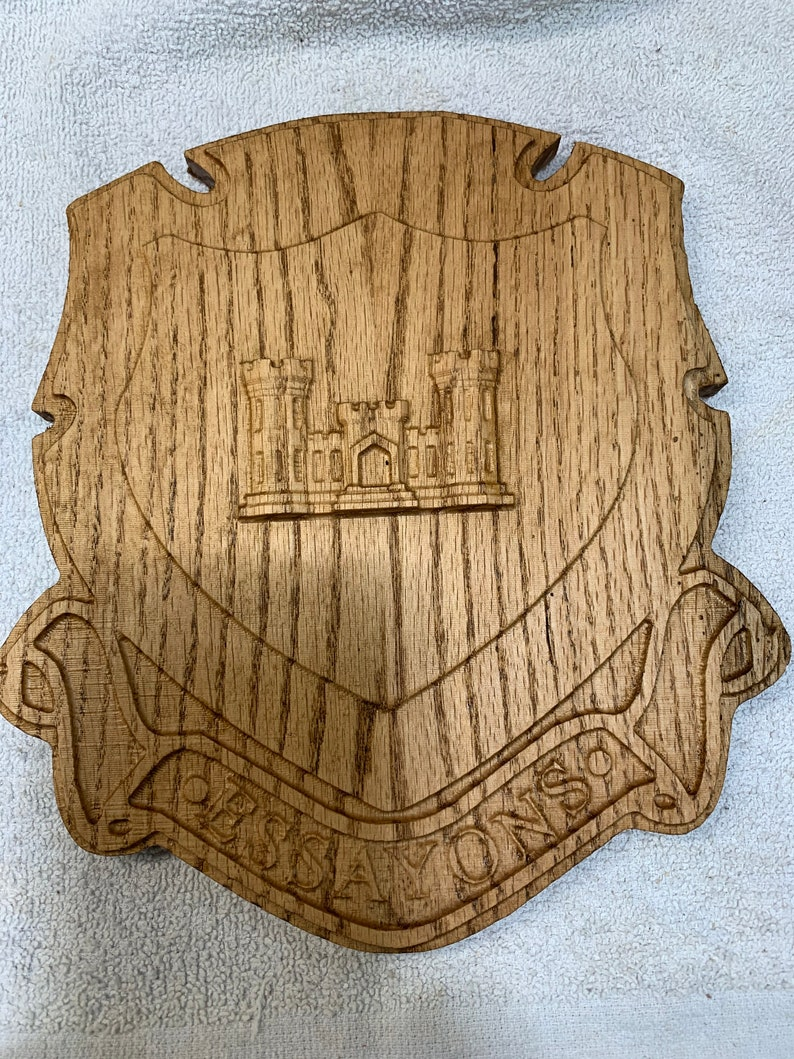 Engineer Regiment Crest 10-11 Your Choice of wood
