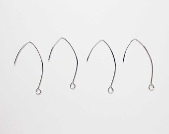 82e207a6c B0023/Anti-tarnished Rhodium Plating Over Brass/Open Hook/33.7x18mm/20pcs
