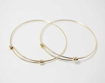 d7deeba42 L0001/Anti-tarnished Gold Plating Over Brass/Adjustable Bangle Bracelet for  Charms/68mm x 65mm,1.3m thickness/1pcs