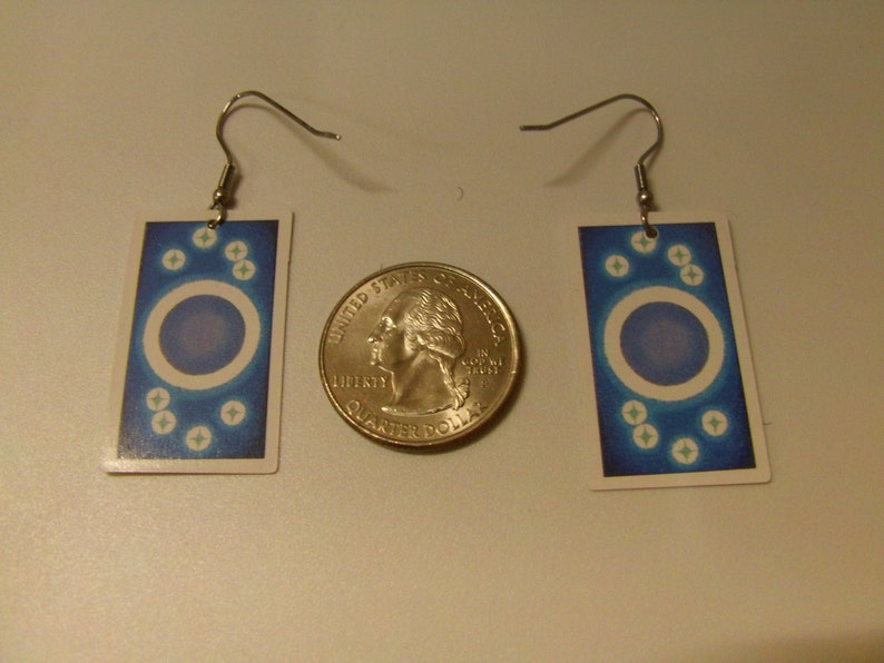 Tarot Card Earrings: The Tower and the Chariot