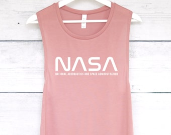 0dfbd6c1f6606 NASA Space Muscle Tee Tank Top - National Aeronatuics and Space  Administration Tank - Space Shirt - Universe Galaxy Shirt