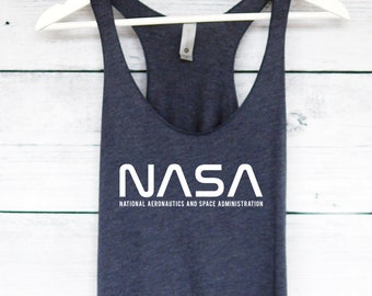 04851f29b0f413 NASA Space Tank Top - National Aeronatuics and Space Administration Tank -  Space Shirt - Universe Galaxy Shirt. plumusa. 5 out of ...