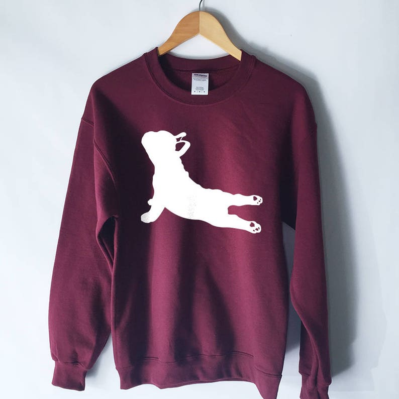 French Bulldog Yoga Pose Sweatshirt  Yoga Sweater  Yoga image 0
