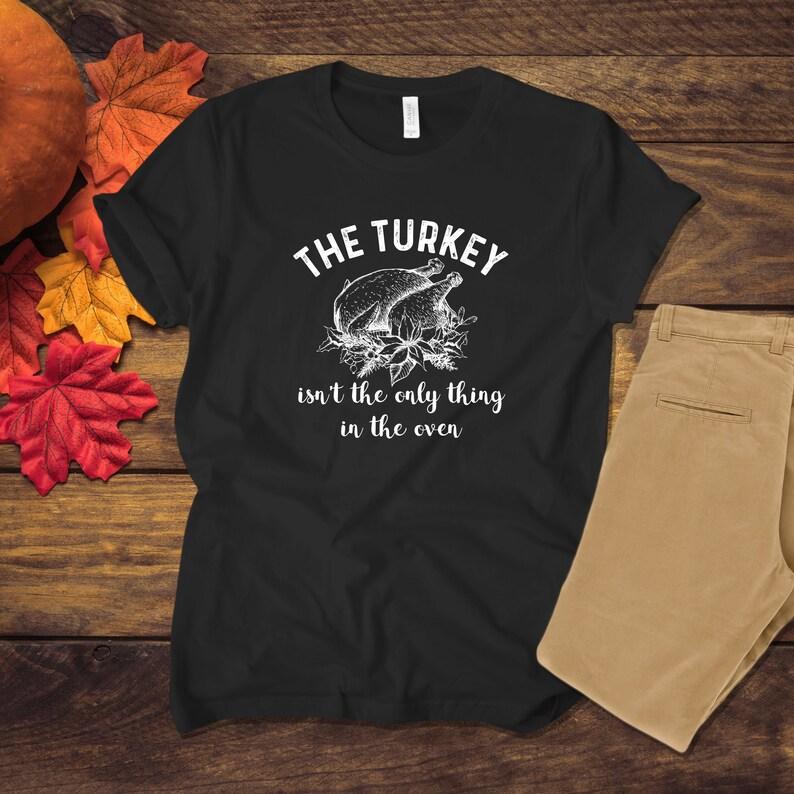 8cb34ce56 Funny Thanksgiving Pregnancy Baby Announcement Shirt Turkey | Etsy