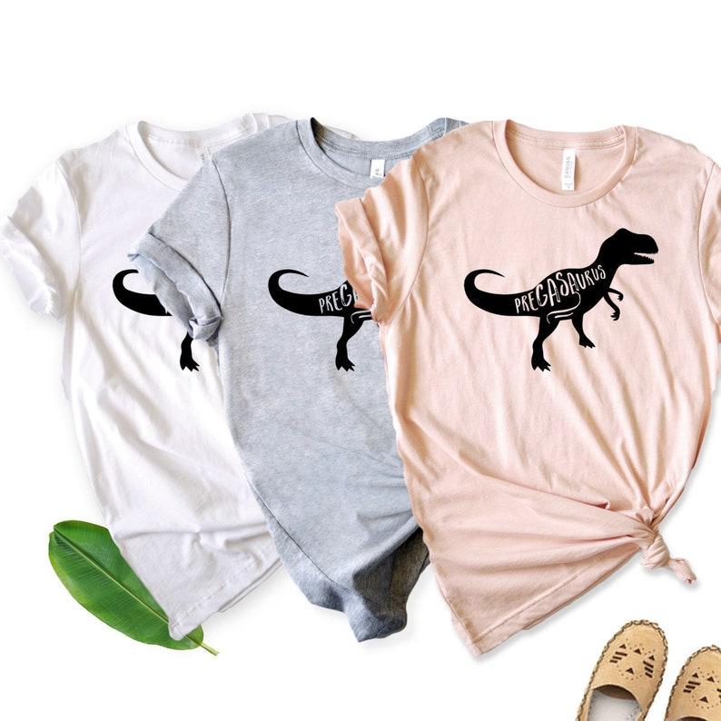 6937e10bd Pregasaurus Shirt Pregnant AF Shirt for Women Maternity | Etsy