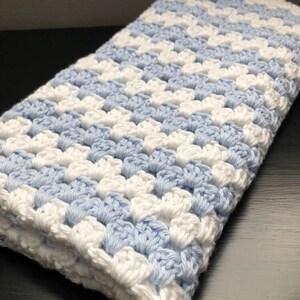 Azul marino blanco manta de bebé azul marino y blanco   Etsy