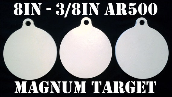 Steel Shooting Targets Round Hangers-AR500-NRA Action Pistol Plates-3pcs 8 In