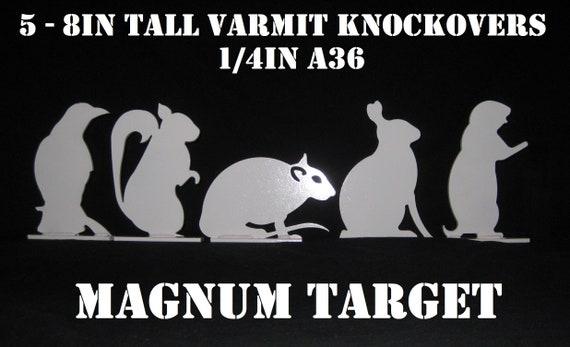 "AR500 Rabbit Silhouette Animal Steel Knock-Over Target 12""X 8""X 3//8"""