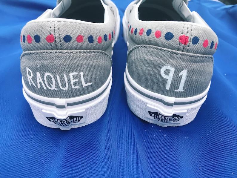 49e2a0c90abe5 Custom Patriots Football Team Handpainted Canvas Shoes (Vans, Converse,  Toms, Keds)