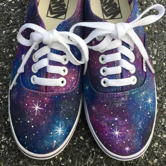 Galaxy Handpainted Canvas Shoes Vans