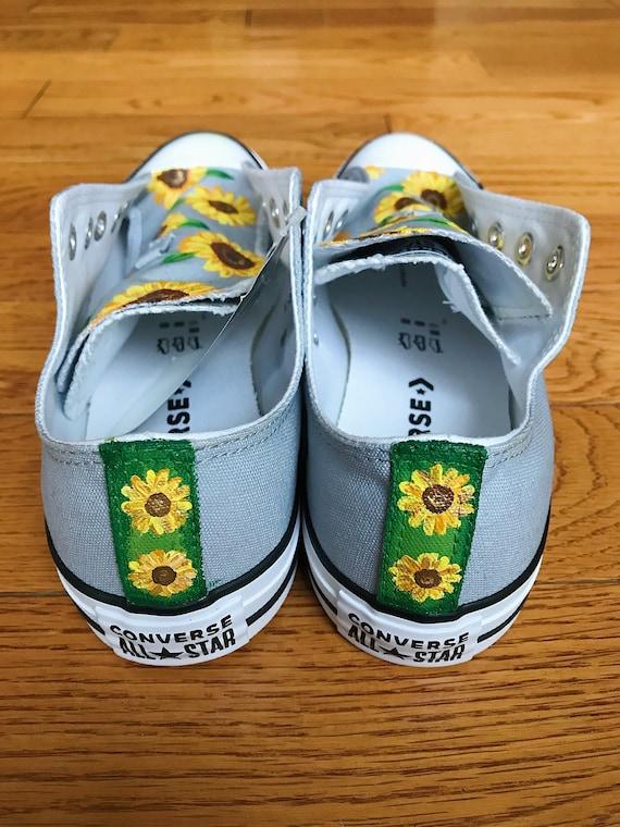 Chaussures de toile peinte à la main drapeau Maryland (Vans, Converse, Toms, Keds)