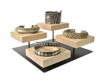 Bracelet display/Metal and Wood Jewelry Display/Craft Show Display/Retail Display