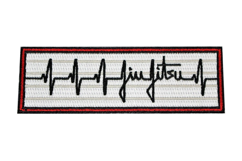 Jiu Jitsu Bjj Gi Patch Heartbeat Pulse Jiu Jitsu Gift Iron On Etsy