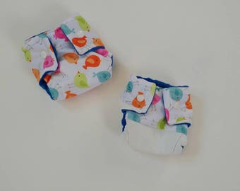 DOLL DIAPERS, 2pk, doll accessories, baby doll diapers, baby alive diapers, made on order, surprise, minky, pul, waterproof