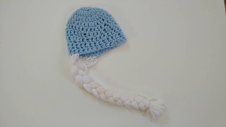 girly ice princess unisex gift crochet canadian shops 3-6m baby hat braids blue ready to ship white baby gift gift handmade