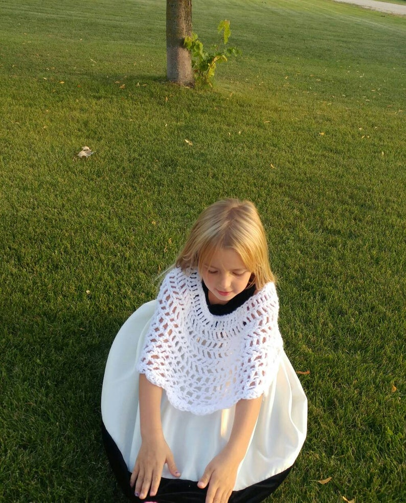 white pink Crochet Childrens Poncho purple,etc blue fall 4-6yrs Made on Order loose red yellow orange kids poncho spring green