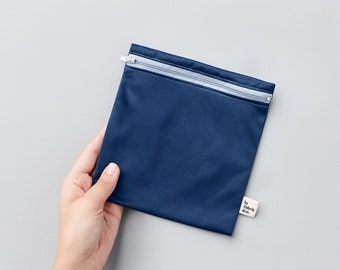 Reusable sandwich and snack bag ~ large ~ Reusable snack and sandwich zipper bags