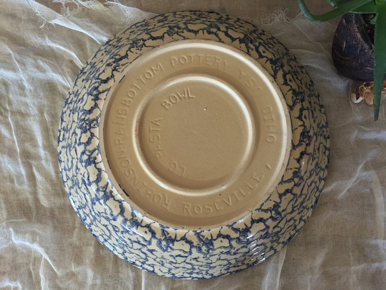 Vintage Robinson Ransbottom Set of two Pieces  Robinson Ransbottom Large Pasta Bowl