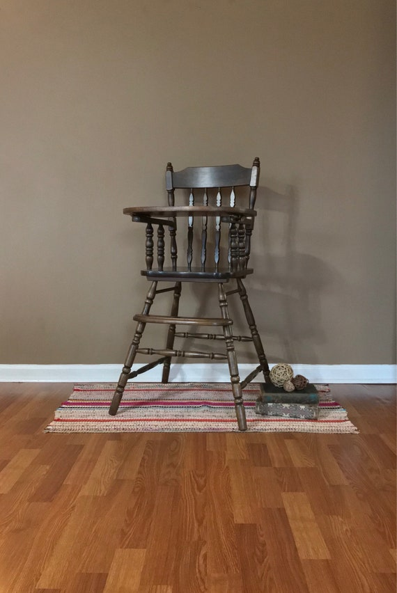Vintage Wooden High Chair Jenny Lind Wood Highchair Wooden High Chair Childs Wooden Highchair Jenny Lind High Chair