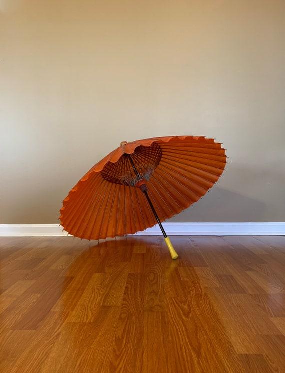 Antique Chinese Umbrella Asian Parasol / Full Size