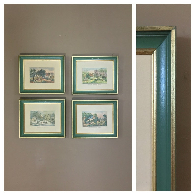 14ee4e516130 Vintage Wall Art Set  Currier and Ives Wall Art   Wall Art