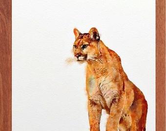 6ea5ccb878fa9 Mountain lion art | Etsy