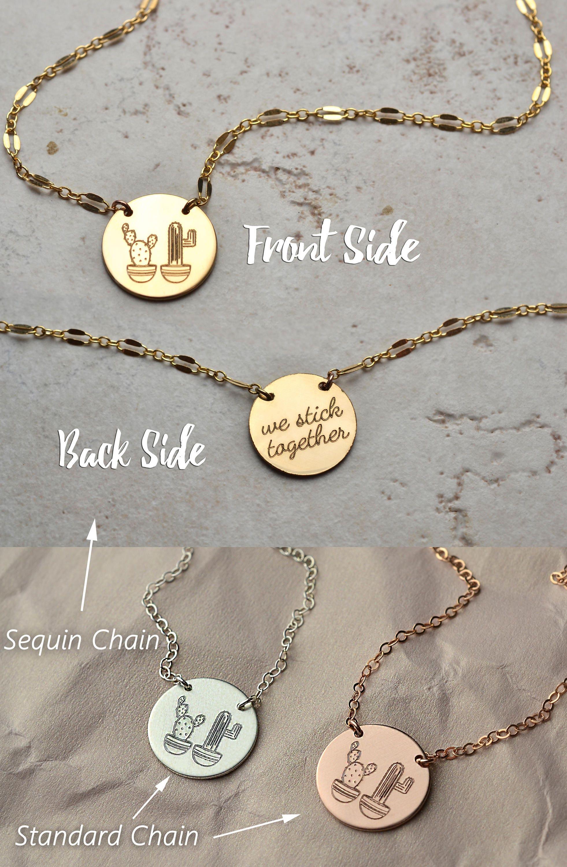 535702037 Cactus necklace best friend gift best friend necklace | Etsy