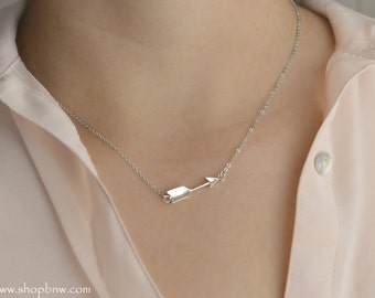 Follow Your Arrow Necklace / Sterling Silver, Gold, Rose Gold / Delicate Necklace / Layering Necklace LA119