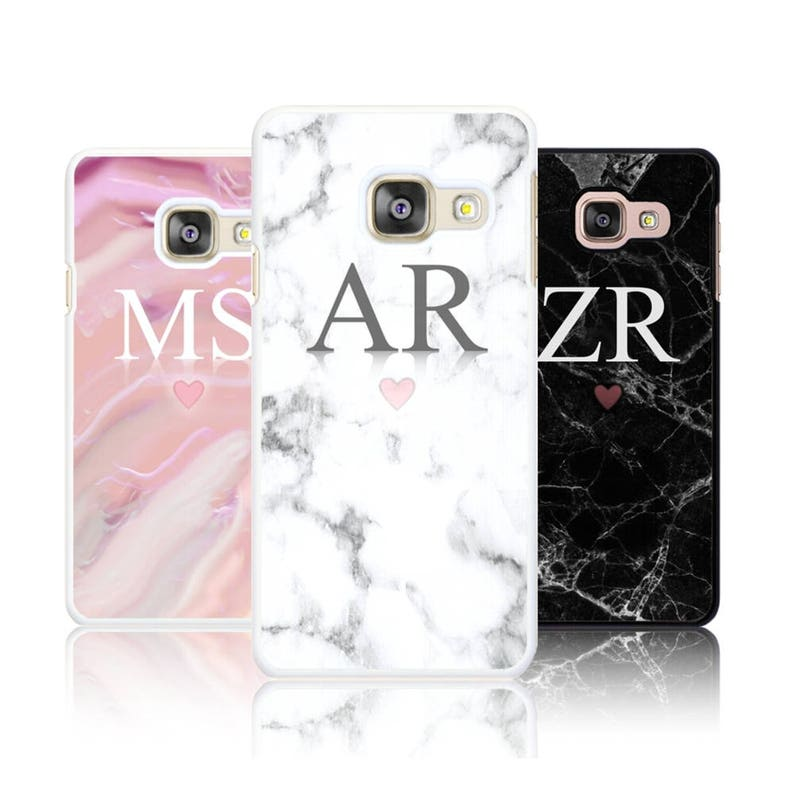Personalized Marble LARGE INITIALS phone case for Samsung image 0