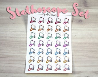 Doctor Stethoscope Appointment Planner Stickers Matte or Glossy -  for use with Erin condren planner  - #37