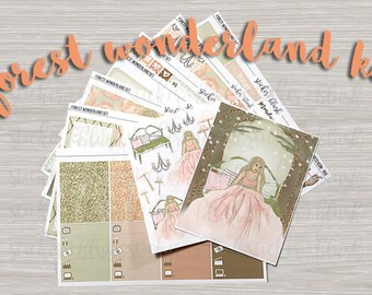 Forest Wonderland weekly kit planner stickers matte or glossy - for erin condren - #87