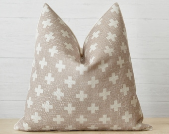 Flax Cross Chenille Pillow Cover