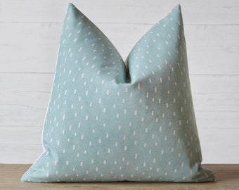 Raindrops Blue Pillow Cover
