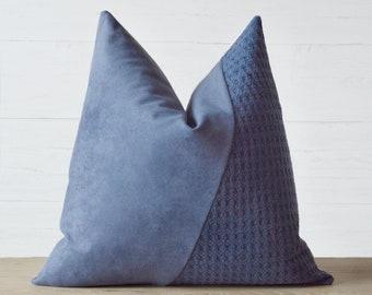Lynette Navy Blue Pillow Cover