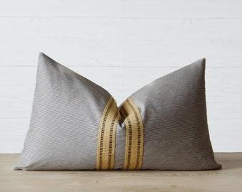 Audra Striped Lumbar Pillow Cover
