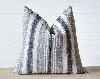 Xai Hmong Vintage Hemp Striped Pillow Cover