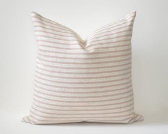 Blush Stripe Pillow Cover