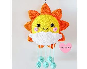 Sunshine Mobile PDF Pattern, crochet, amigurumi